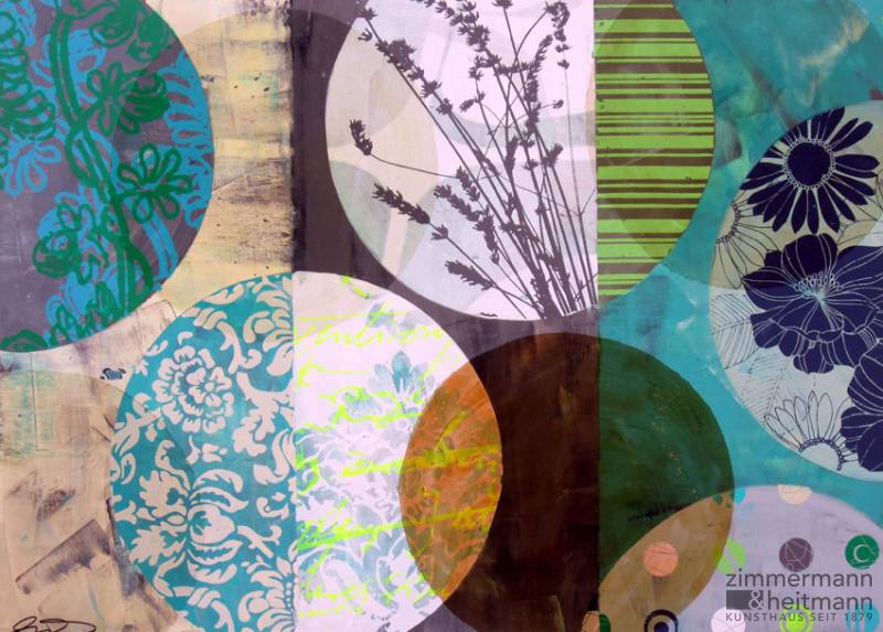 "Anna Flores ""Circles (Turquoise/Brown)"""