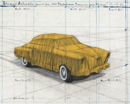 "Christo ""Wrapped Automobile, Project for Studebaker"" aus dem Jahr 2015"
