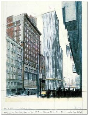 Wrapped Building, Project for No 1 Times Square von Christo