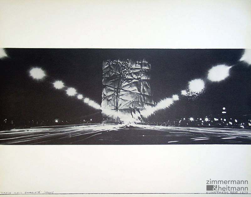 "Christo ""Monuments Arc de Triomphe Paris"""