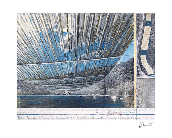 "Christo ""Over The Arkansas River, Project A"""