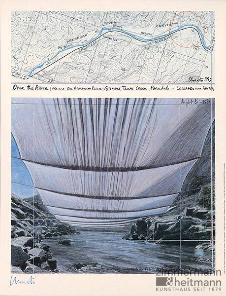 "Christo ""Over the River II Underneath"""