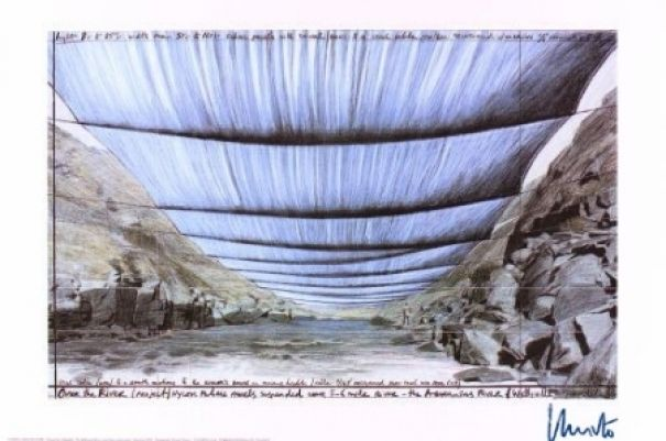 "Christo ""Over the River IV Under"""