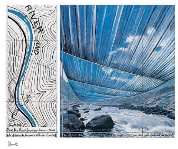 "Christo ""Over The River IX, Project for Arkansas River"""