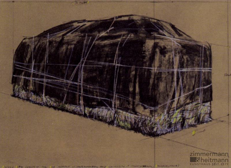 "Christo ""Packed Hay (1973)"""