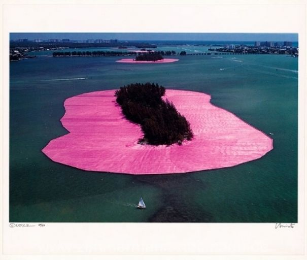 "Christo ""Surrounded Islands (1983)"""
