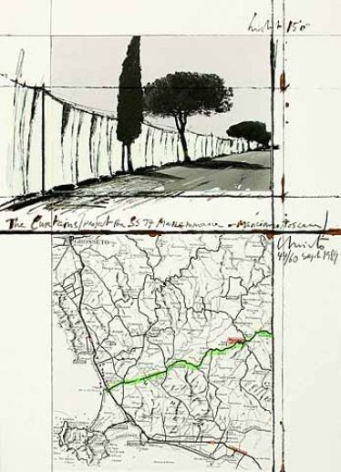 Christo - The Curtains / Manciano (1989)