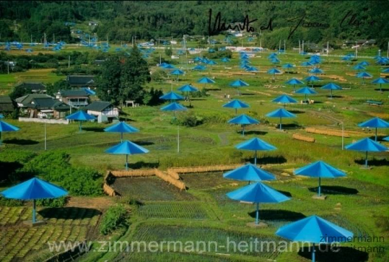"Christo ""Umbrellas Blau Nr. 14 (1991)"""
