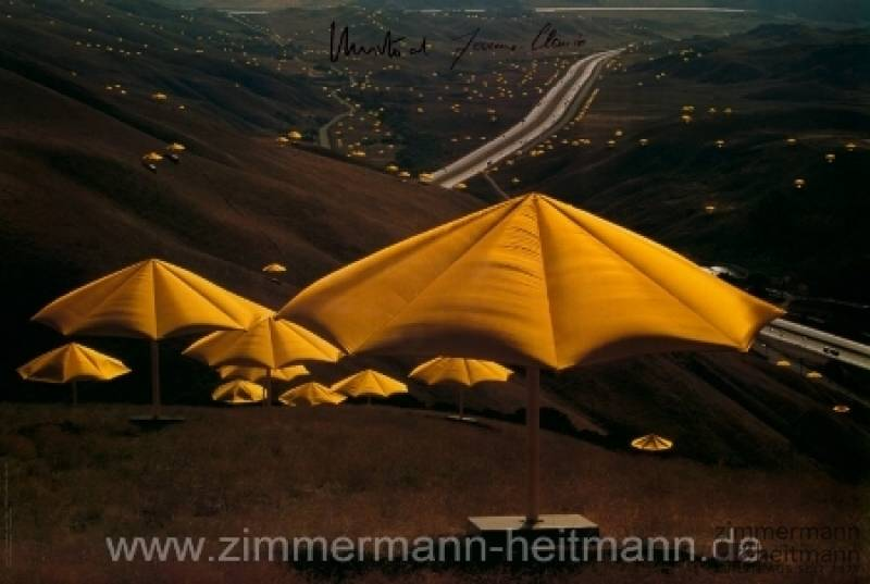 "Christo ""Umbrellas Gelb Nr. 10 (1991)"""