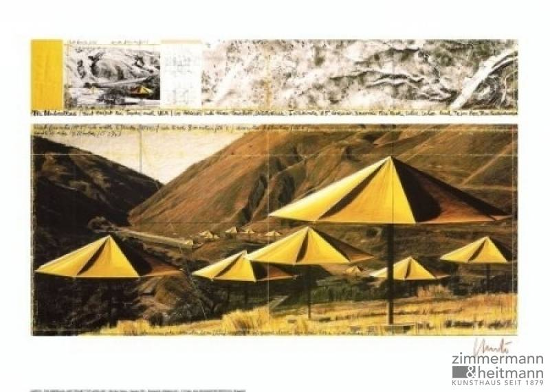 "Christo ""Umbrellas Yellow I"""