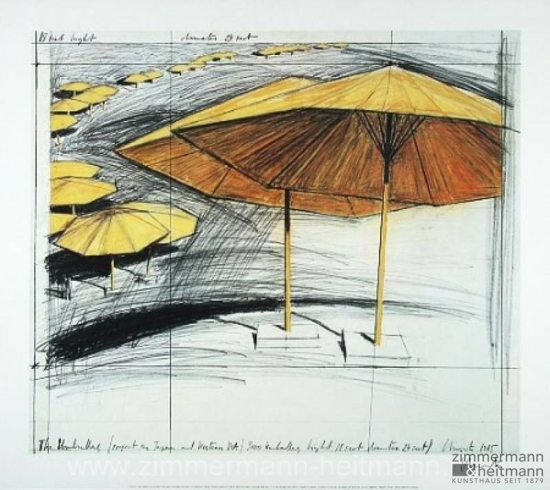 "Christo ""Umbrellas Yellow III"""
