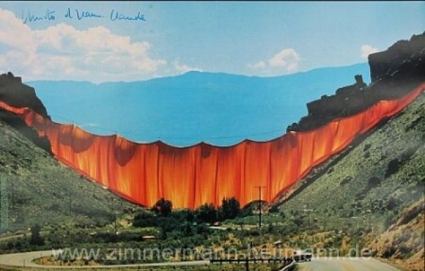 "Christo ""Valley Curtain (1972)"""