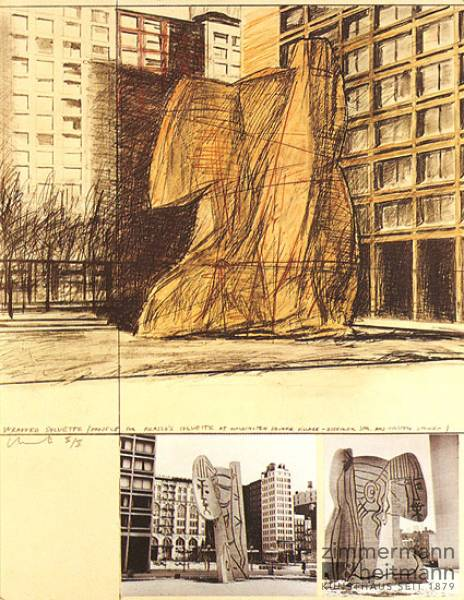 "Christo ""Verpackte Sylvette (1973-74)"""