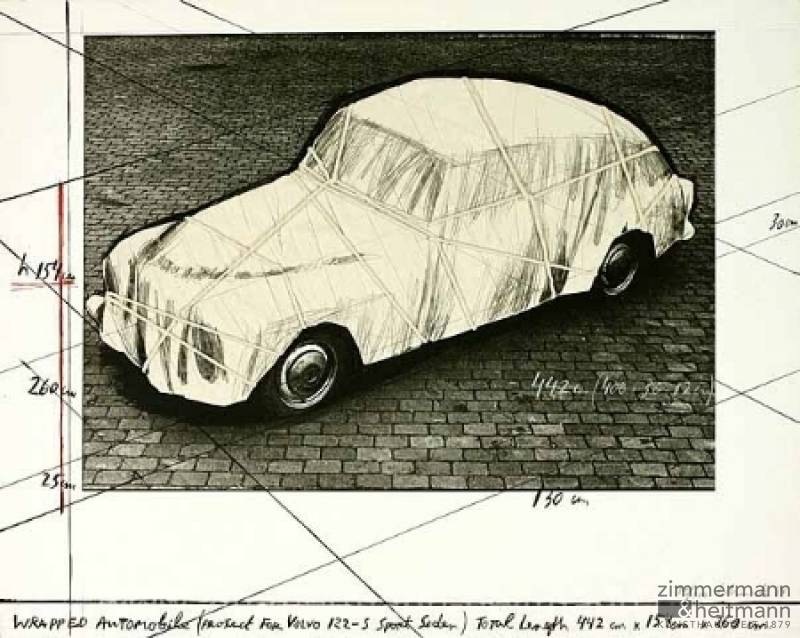 "Christo ""Wrapped Automobile Volvo"""
