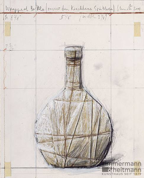 "Christo ""Wrapped Bottle, Kirchberg"""
