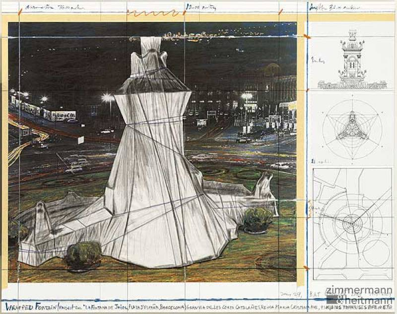 "Christo ""Wrapped Fountain de Jujol """