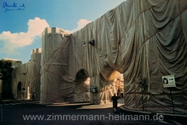 "Christo ""Wrapped Roman Wall 1974"""