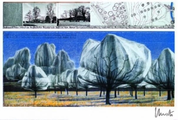 "Christo ""Wrapped Trees Nr. VI"""