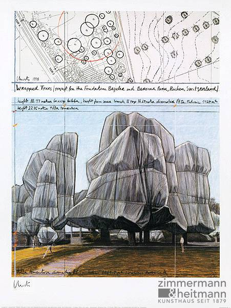 "Christo ""Wrapped Trees Nr.III """