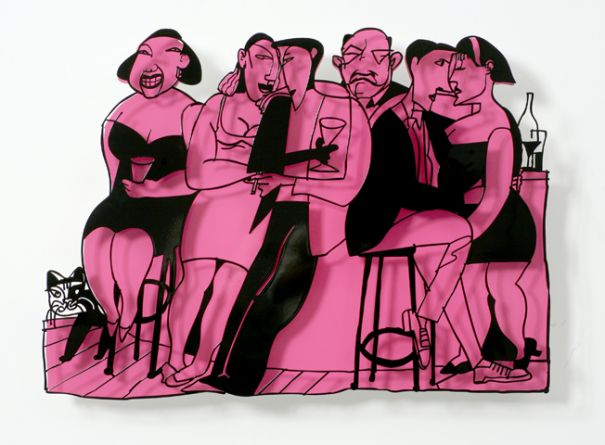 David Gerstein - Bar Series - On The Bar (pink)