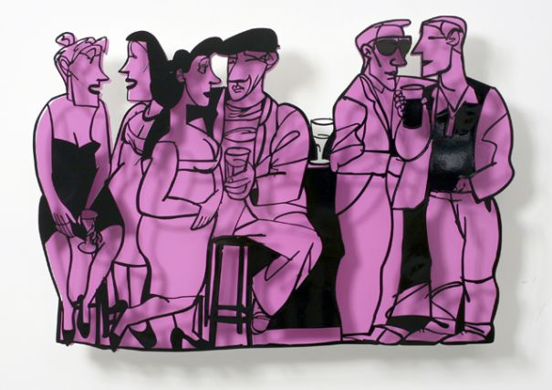 "David Gerstein ""Bar Series - Small Talk (purple)"""