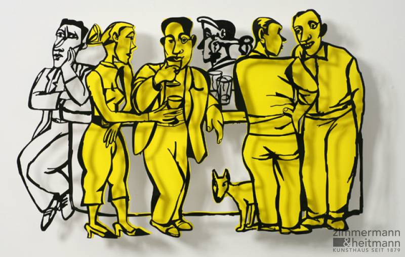 "David Gerstein ""Bar Series - Time Out (yellow)"""