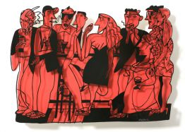"David Gerstein ""Bar Series - Bar At Night (red)"""