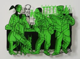 "David Gerstein ""Bar Series - Bar People (green)"""