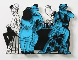 "David Gerstein ""Bar Series - Bar Scene (blue)"""