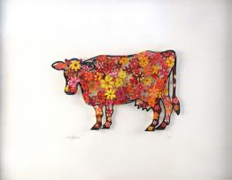 "David Gerstein ""Floral Cow (Papercut)"""