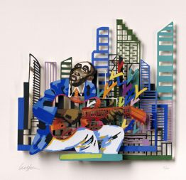 "David Gerstein ""Gitar Player (Papercut)"""