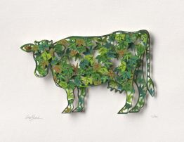 "David Gerstein ""Green Cow (Papercut)"""