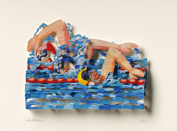 "David Gerstein ""Iron Man – Swimmers (Papercut)"""