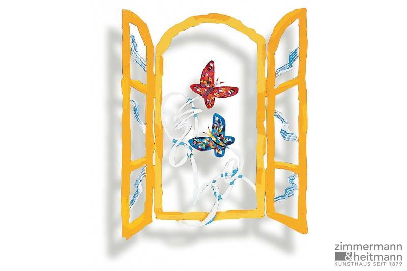 "David Gerstein ""Open window with butterflies"""