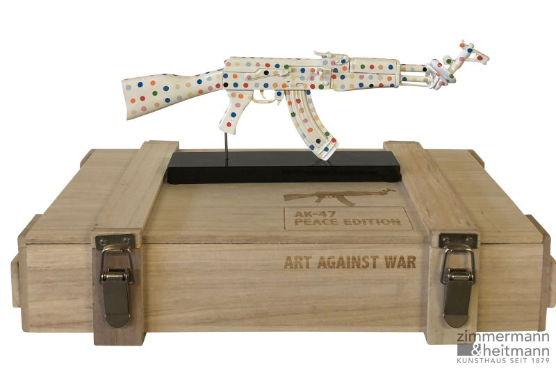 "Diederik van Appel ""AK 47 COLOR PEACE DOTS - ART AGAINST WAR"""