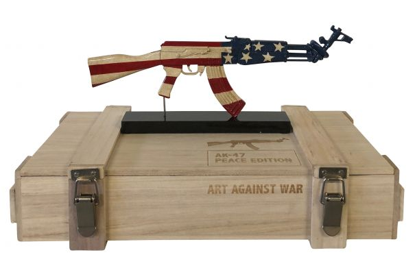 "Diederik van Appel ""AK 47 UNITED STATES - ART AGAINST WAR"""