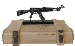 "Diederik van Appel ""AK 47 BLACK AMEX - ART AGAINST WAR"""