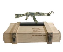 "Diederik van Appel ""AK 47 Dollars - ART AGAINST WAR"""