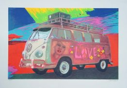 Hippie-Bus von James Francis Gill