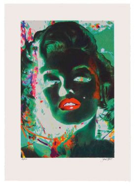 Marilyn In Green Room von James Francis Gill aus dem Jahr 2014