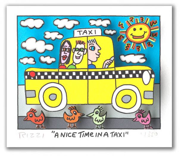 James Rizzi - A Nice Time In A Taxi