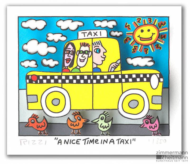 "James Rizzi ""A Nice Time In A Taxi"""