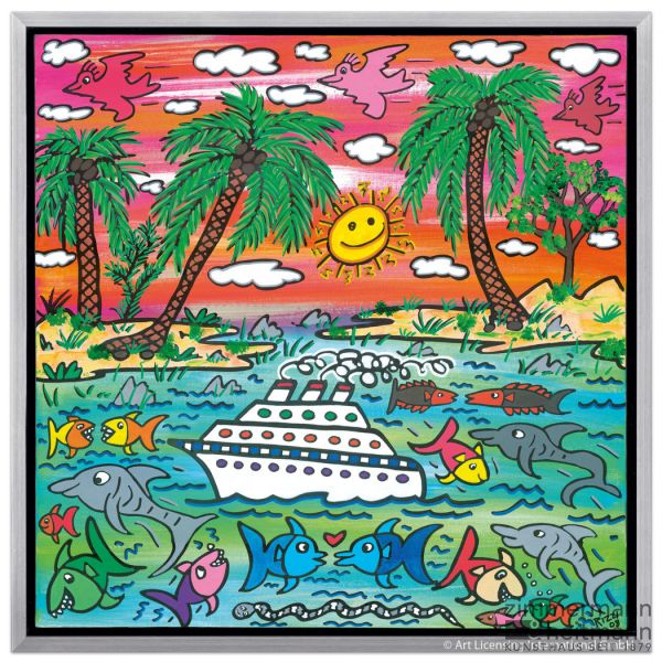 "James Rizzi ""A Sunset Cruise"""