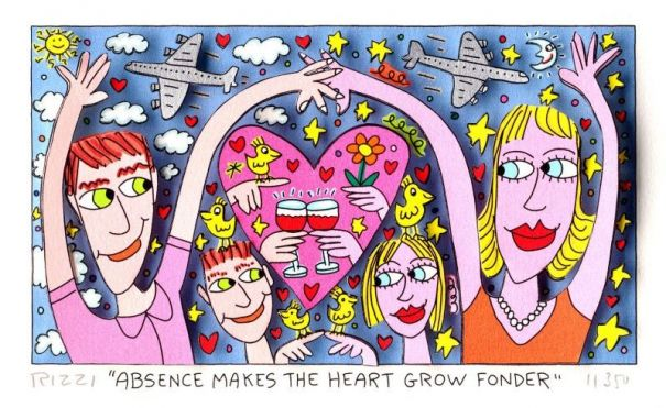 "James Rizzi ""Absence makes the Heart grow fonder"""
