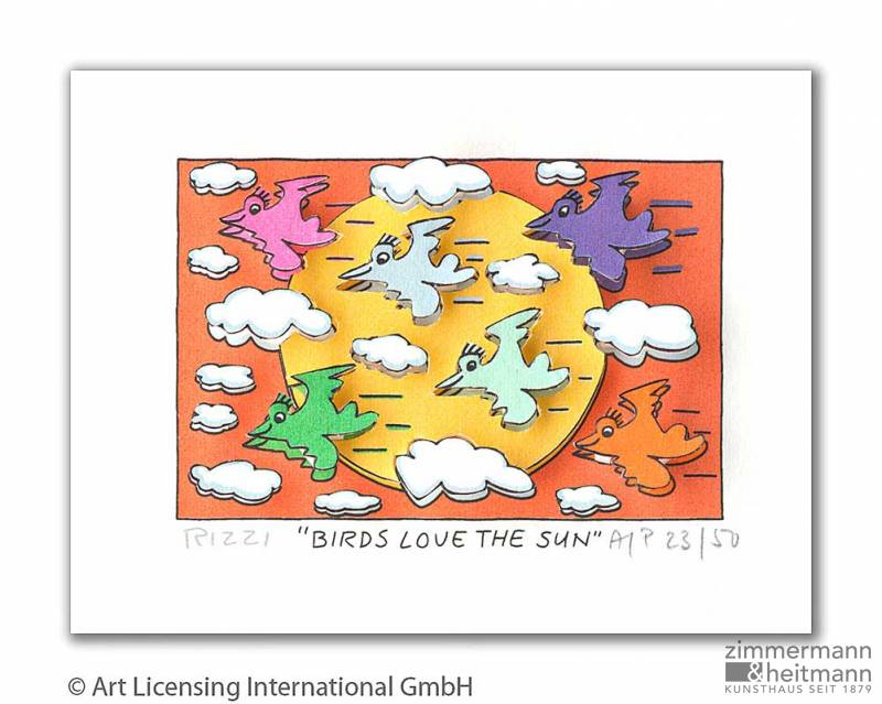 "James Rizzi ""Birds Love The Sun"""