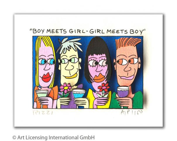 "James Rizzi ""Boy meets girl - Girl meets boy"""