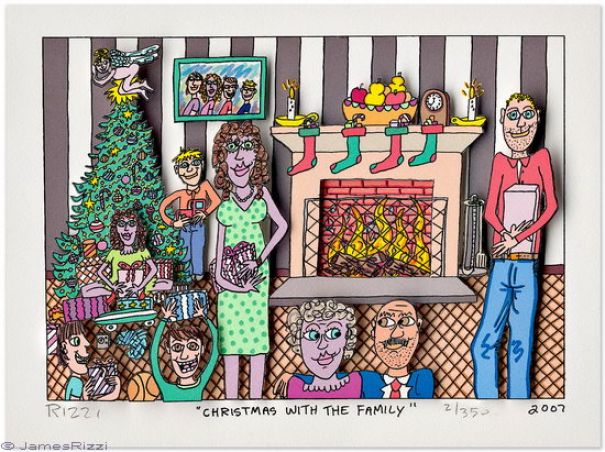 "James Rizzi ""Christmas With The Family"""