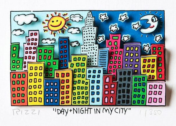 James Rizzi - Day + Night in my City