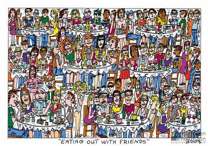 "James Rizzi ""Eating out with Friends"""