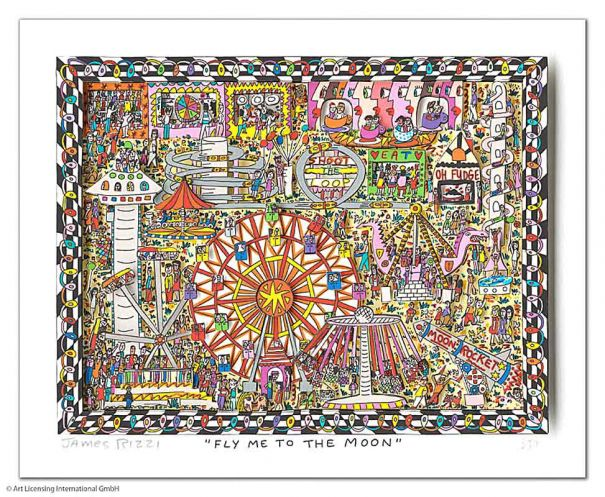 "James Rizzi ""Fly Me To The Moon"""